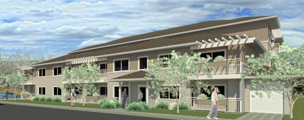 Rendering of Sunrise Senior Apartments as it will appear when construction is complete.